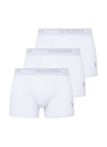 U.S. Polo Assn. U.S. Polo Assn. Erkek Beyaz 3 Lü Boxer Beyaz